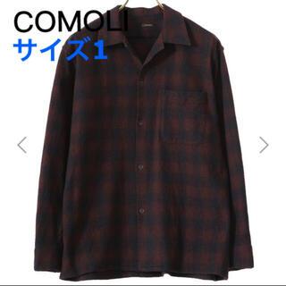 COMOLI - (新品)comoli ウールチェックオープンカラーシャツ サイズ1