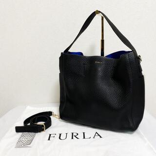 フルラ(Furla)の【廃盤】FURLA カプリッチョ ホーボー バッグ レディース M ブラック(ショルダーバッグ)