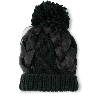 Branshes - 【新品】チュール編み込みニット帽