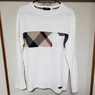 ブラックレーベルクレストブリッジ(BLACK LABEL CRESTBRIDGE)のブラックレーベル/クレストブリッジチェック/カットソー/ロンTサイズL/白(Tシャツ/カットソー(七分/長袖))