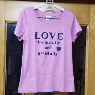 アイアイエムケー(iiMK)のi i M K  ロゴTシャツ ピンク L(Tシャツ(半袖/袖なし))