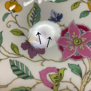 ミントン(MINTON)のミントン  ハドンホール  オーバルディッシュ(ピンク)(食器)