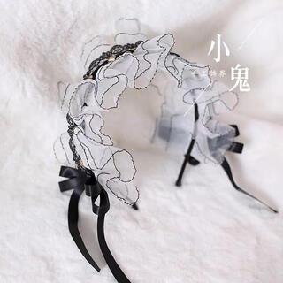 アンジェリックプリティー(Angelic Pretty)のゴシック ロリータ  ゆめかわ  地雷系 量産系 黒白カチューシャ(カチューシャ)