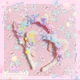 アンジェリックプリティー(Angelic Pretty)のAngelic Pretty ネコカチューシャ ピンク(カチューシャ)