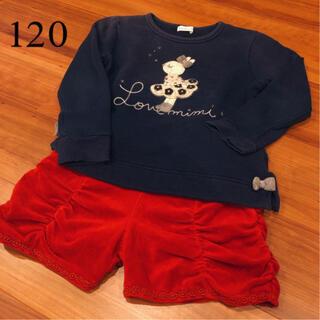 アナスイミニ(ANNA SUI mini)の美品【ANNA SUI MINI アナスイ ミニ】ショートパンツ 120(パンツ/スパッツ)