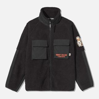 GU - GU スタジオセブン  ボアフリースジャケット Lサイズ 黒
