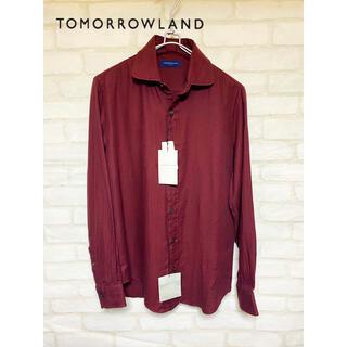 トゥモローランド(TOMORROWLAND)の未使用 トゥモローランド カシミア混 長袖シャツ sサイズ メンズ(シャツ)