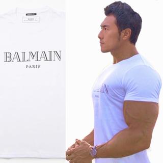 バルマン(BALMAIN)の[送料無料] 新品 BALMAIN PARIS バルマンロゴTシャツ Lサイズ(Tシャツ/カットソー(半袖/袖なし))