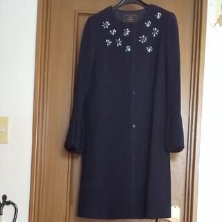 トッカ(TOCCA)のSサイズ 未使用 紺色 羊毛コート(ロングコート)