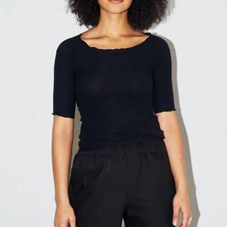 エディットフォールル(EDIT.FOR LULU)のbaserange 3/4 pama リブT 新品未使用タグ付き(Tシャツ(半袖/袖なし))