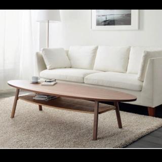 イケア(IKEA)のTOCKHOLM ストックホルム コーヒーテーブル, ウォールナット材突(ローテーブル)