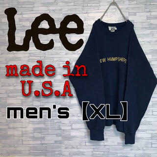 リー(Lee)の【USA製】Lee ビッグサイズ men'sXL 刺繍 スウェット 90's(スウェット)