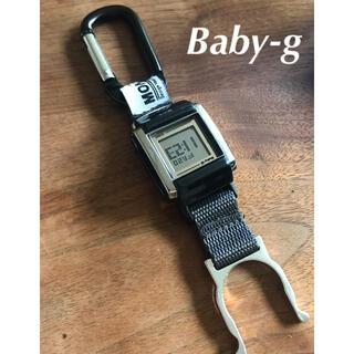 カシオ(CASIO)のBaby-g カラビナカスタム カラビナウォッチ 電池新品 ブラック シルバー(腕時計)
