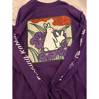 ヴァンキッシュ(VANQUISH)のFR2 撫子 ロンT 長袖 パープル サイズM タグつき(Tシャツ/カットソー(七分/長袖))