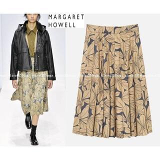 マーガレットハウエル(MARGARET HOWELL)の2019 新品マーガレットハウエル☆ホースチェスナッツ シルクプリーツスカート1(ひざ丈スカート)
