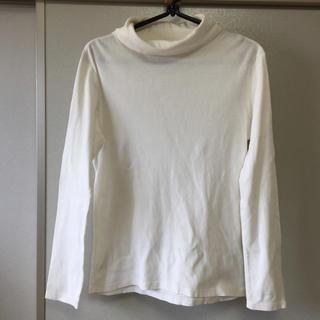 ジーユー(GU)のコットン長袖カットソー★白★L★GU (Tシャツ(長袖/七分))