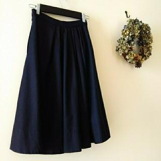 マーガレットハウエル(MARGARET HOWELL)のMARGARET HOWELL ウール ギャザースカート(ひざ丈スカート)