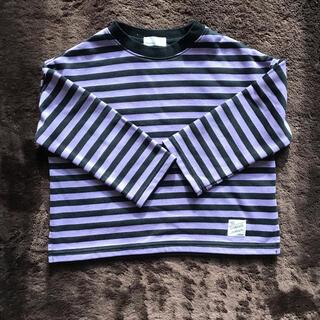 ナルミヤ インターナショナル(NARUMIYA INTERNATIONAL)のビールーム✨裏毛 ボーダービッグシルエットトレーナー(Tシャツ/カットソー)