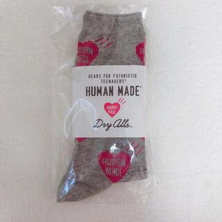 ジーディーシー(GDC)のHUMAN MADE HEART PATTERN SOCKS(靴下)Red(ソックス)