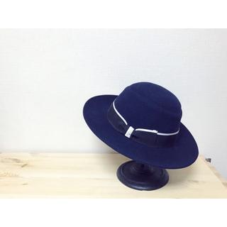 ボルサリーノ(Borsalino)のBorsalino🍋新品 定価5万 ウールハット リボンハット帽子(ハット)