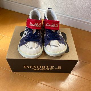 ダブルビー(DOUBLE.B)のMikihouse double Bスニーカー15.5cm(スニーカー)