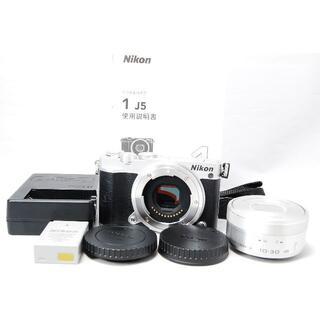 Nikon - Nikon ニコン 1 J5 標準パワーズームレンズキット シルバー