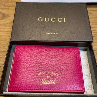Gucci - GUCCI made in italy 名刺入れ ピンク