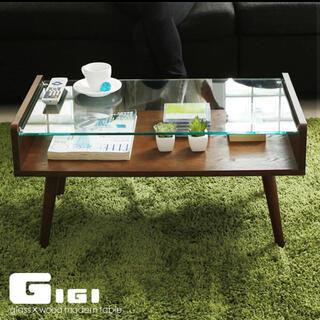 【直接引取可】LOWYA(ロウヤ) ガラステーブル ローテーブル