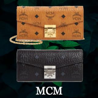 エムシーエム(MCM)の★SALE☆【MCM】 ロゴ チェーン付き ハンドバック 長財布(財布)