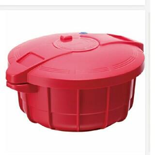 マイヤー(MEYER)のマイヤー MEYER 電子レンジ圧力鍋 2.3L イタリアンレッド (鍋/フライパン)