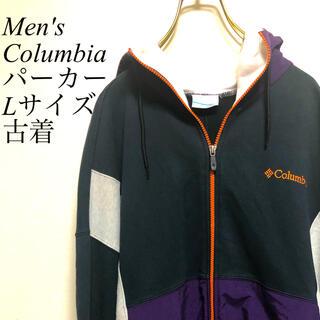 コロンビア(Columbia)のColumbia コロンビア 切替スウェットナイロンパーカー メンズL【古着】(パーカー)