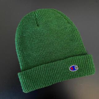 チャンピオン(Champion)のChampion ニット帽 グリーン(ニット帽/ビーニー)