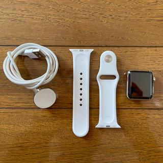 Apple Watch Series3 ステンレスシルバー セルラー 38MM(腕時計(デジタル))