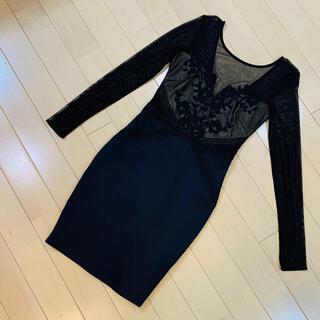 リプシー(Lipsy)のLIPSY リプシー シースルー ドレス ワンピース(ミディアムドレス)
