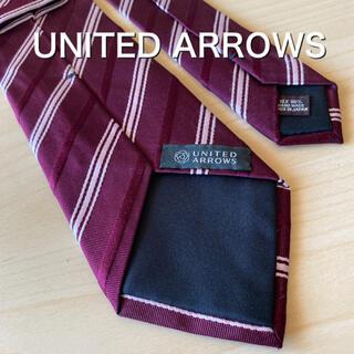 ユナイテッドアローズ(UNITED ARROWS)のUNITED ARROWS ボルドー レジメンタル ネクタイ(ネクタイ)