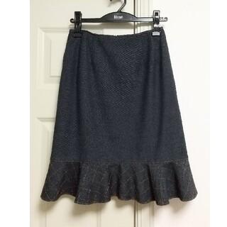 ルネ(René)のルネ rene ペプラムスカート 裏起毛 34サイズ(ひざ丈スカート)