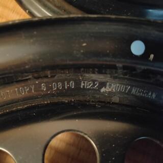 ニッサン(日産)の日産純正スチールホイール4本セット 15インチ 5.5j(ホイール)
