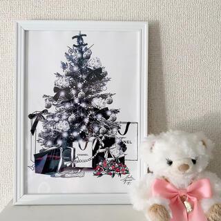 クリスマスツリー アートポスター