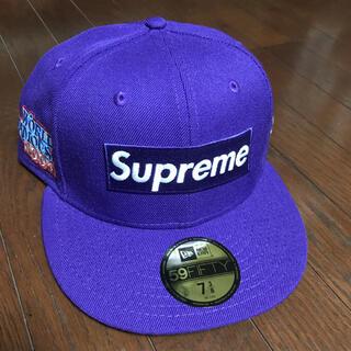 シュプリーム(Supreme)のSupremeシュプリームBox logoキャップ ニューエラ 7 3/8(キャップ)