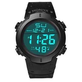 ダイバーズタイプ HONHX アウトドア 新品未使用 3気圧防水腕時計(腕時計(デジタル))