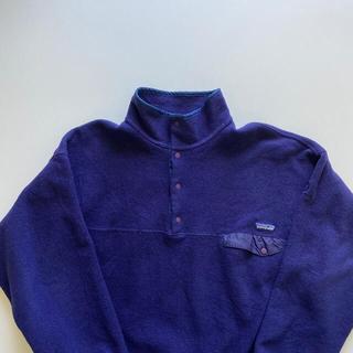 パタゴニア(patagonia)の【超激レア】紫パタゴニア☆シンチラ スナップT フリース 90sパープルレトロX(ブルゾン)
