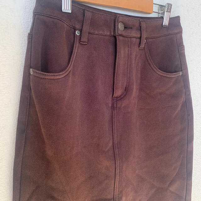 Lochie(ロキエ)の裏起毛ストレッチスリットペンシルスカート レディースのスカート(ひざ丈スカート)の商品写真