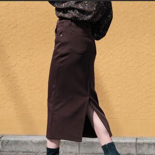 Lochie - 裏起毛ストレッチスリットペンシルスカート