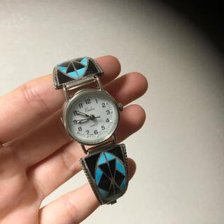 定価29000円 インディアン ジュエリー 時計 ターコイズ