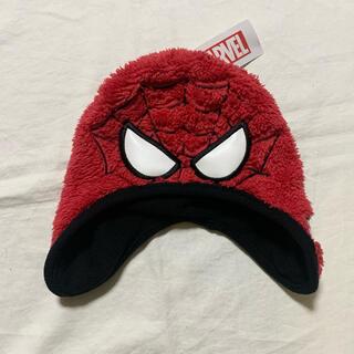 マーベル(MARVEL)のスパイダーマン 耳あて付き帽子 キッズ用(帽子)