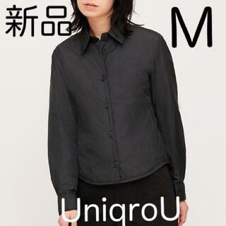 UNIQLO - ユニクロユー シャツジャケット 中綿ジャケット 中わた 上着 インナージャケット