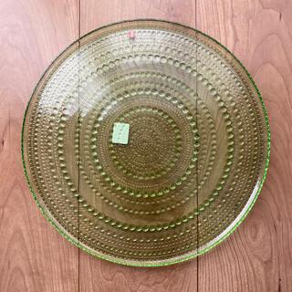 イッタラ(iittala)の廃盤 カステヘルミ アップルグリーン 大皿 31.5センチ(食器)