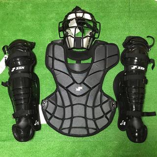 エスエスケイ(SSK)の☆未使用品☆ 一般ソフトボール キャッチャー マスク プロテクター レガース 黒(防具)