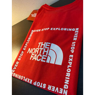 THE NORTH FACE - TNF バックサイドスクエアロゴT  women's S