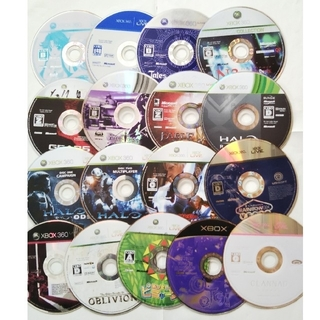 エックスボックス(Xbox)の●値下げ● XBOX ソフト17枚セット ② ジャンク(家庭用ゲーム機本体)